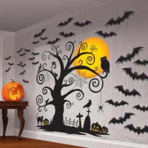 Amscan Dekorace na zeď - Strašidelný strom 32 dílná sada