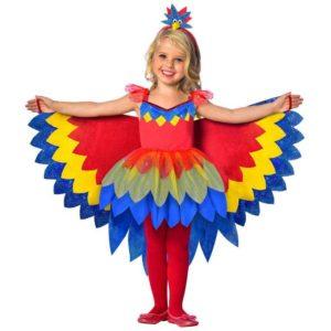 Amscan Dětský kostým - Papoušek Velikost - děti: S/M