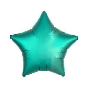 Amscan Fóliový balón Hvězda - Tyrkysový 43 cm