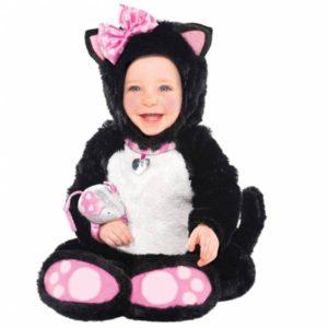 Amscan Kostým pro nejmenší - Rozkošná kočička Velikost nejmenší: 12 - 18 měsíců