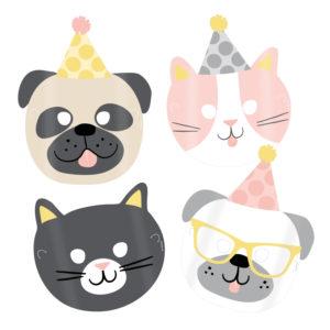 Amscan Masky Hello Pets 8 ks