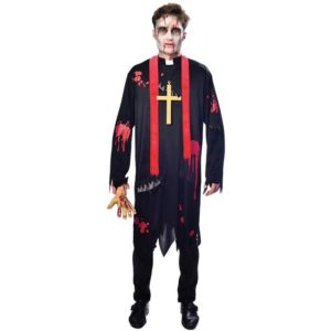 Amscan Pánský kostým - Zombie farář Velikost - dospělý: M