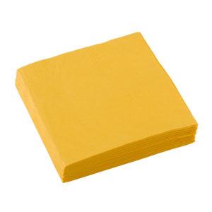 Amscan Ubrousky - Žlutá 25x25 cm