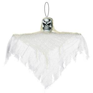 Amscan Visící dekorace bílá s lebkou 35