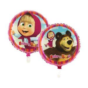 BP Fóliový balón - Máša a medvěd (kruh)