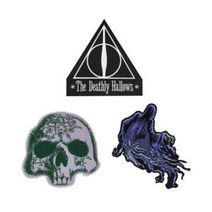 Cinereplicas Balení 3 nášivek Relikvie smrti - Harry Potter