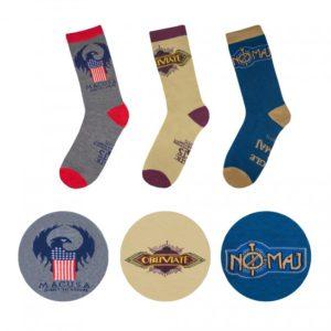Cinereplicas Sada 3 párů ponožek Fantastické zvěře