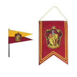 Cinereplicas Sada banner a vlajka Harry Potter - Nebelvír