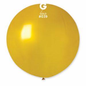 Gemar Kulatý metalický balonek 80 cm zlatý