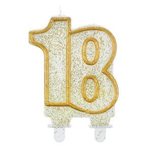 Godan Dortová svíčka 18 - zlatá