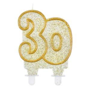 Godan Dortová svíčka 30 - zlatá