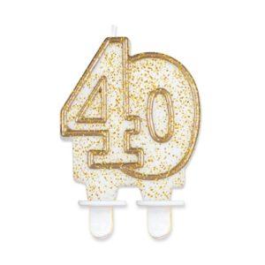 Godan Dortová svíčka 40 - zlatá