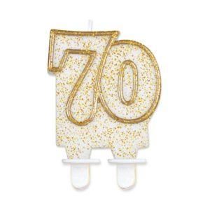 Godan Dortová svíčka 70 - zlatá