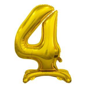 Godan Samostojící fóliový balón 4 zlatý 74 cm