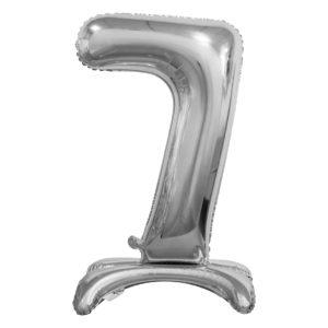 Godan Samostojící fóliový balón 7 stříbrný 74 cm