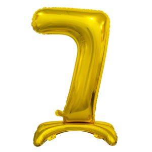 Godan Samostojící fóliový balón 7 zlatý 74 cm