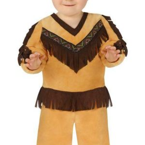 Guirca Dětský kostým pro nejmenší - Indián Velikost nejmenší: 6 - 12 měsíců