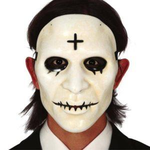 Guirca Maska - Bílá s křížkem (Očista)