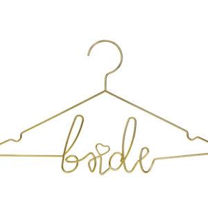 PartyDeco Dekorace - zlatý věšák nevěsta