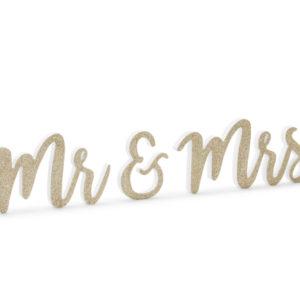 PartyDeco Dřevěná dekorace - Mr & Mrs