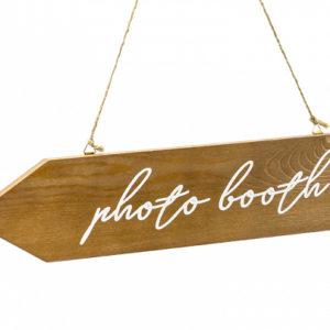 PartyDeco Dřevěná dekorace - směrovka Photo booth