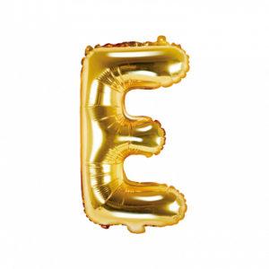 PartyDeco Fóliový balónek Mini - Písmeno E zlatý 35cm