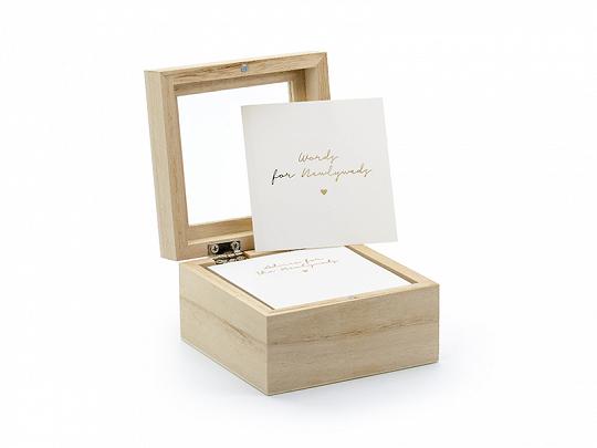 PartyDeco Kniha hostů - Dřevěná krabička