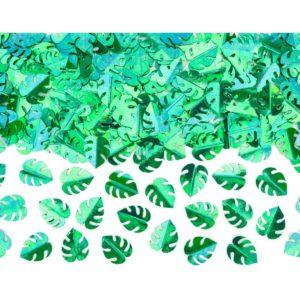 PartyDeco Konfety - zelené listy