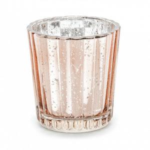 PartyDeco Svícen - růžovo-zlatý 6 cm