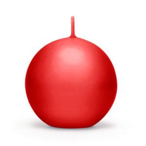 PartyDeco Svíčka - koule červená 6 cm