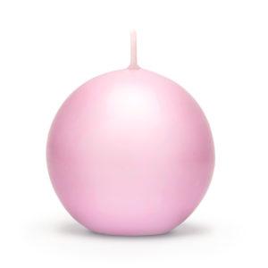 PartyDeco Svíčka - koule růžová 8 cm