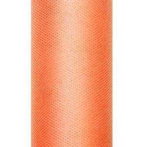 PartyDeco Tyl hladký - oranžový 0