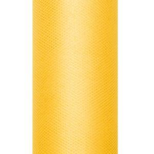 PartyDeco Tyl hladký - žlutý 0