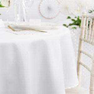 PartyDeco Ubrus - bílý kulatý 280 cm