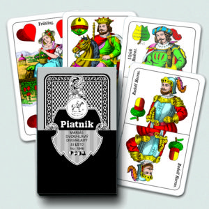 Piatnik Mariáš karty dvouhlavé