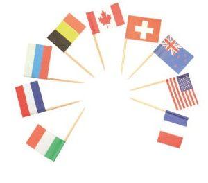 Procos Dekorativní párátka vlajky 24 ks