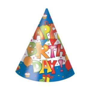 Procos Kloboučky Happy Birthday 6 ks