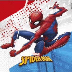 Procos Kvalitní kompostovatelné ubrousky - Spiderman 20 ks