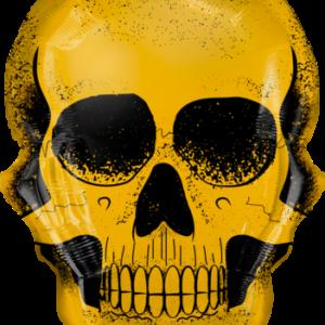 Qualatex Fóliový balón - Zlatá lebka