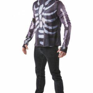 Rubies Pánský top a čepice Skull Trooper (Fortnite) Velikost - dospělý: S