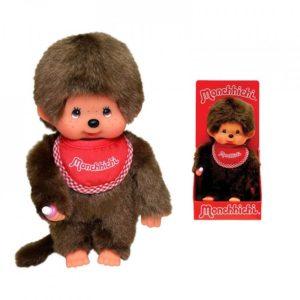 ABY style Monchhichi - chlapeček s červeným podbradníkem