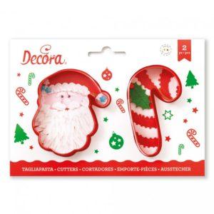 Decora Sada vánočních vykrajovátek - Santa Claus a lízatko