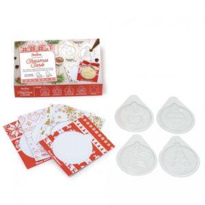 Decora Vánoční formičky na čokoládu s kartičkami