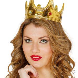 Guirca Koruna pro královnu - zlatá