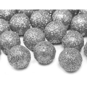 PartyDeco Dekorační koule - stříbrné