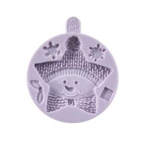 Silikonová forma Karen Davies - Hvězda sněhulák