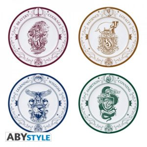 ABY style Sada 4 ks talířů Bradavického fakulty - Harry Potter