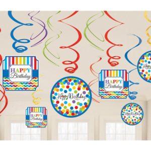 Amscan Dekorace víry barevné narozeniny