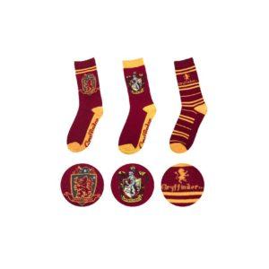 Cinereplicas Sada 3 párů ponožek Harry Potter - Nebelvír