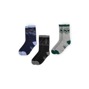 Distrineo Sada 3 párů ponožek Harry Potter - Relikvie smrti